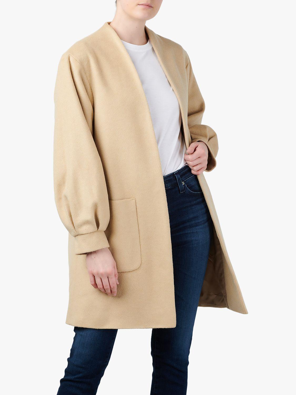 Helene For Denim Wardrobe Balloon Sleeve Coat, Natural