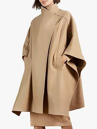 Ted Baker Gilini Wool Blend Cape Coat, Camel