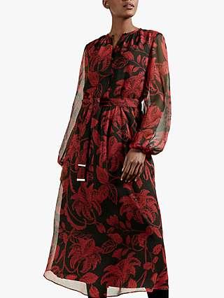 Ted Baker Hadlee Dress, Black/Red