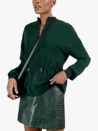 Ted Baker Biianka Zip Jacket, Dark Green