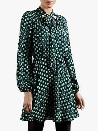 Ted Baker Dolley Rocoo Print Dress, Dark Grey