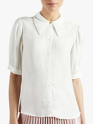 Ted Baker Guiliaa Short Sleeve Blouse, White