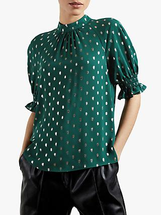 Ted Baker Jamiiee Polka Dot Top