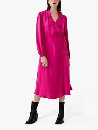 Ghost Tansy Wrap Dress, Cerise