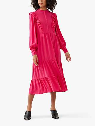 Ghost Esma Frill Midi Dress
