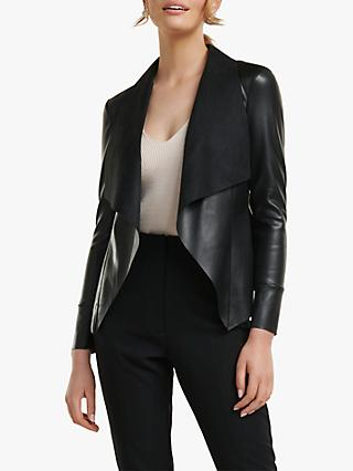 Forever New Lara Waterfall Jacket, Black