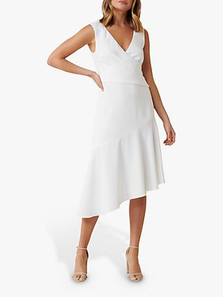 Forever New Cynthia Draped Crepe Dress, Porcelain