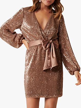 Forever New Di Sequin Mini Dress, Copper Queen