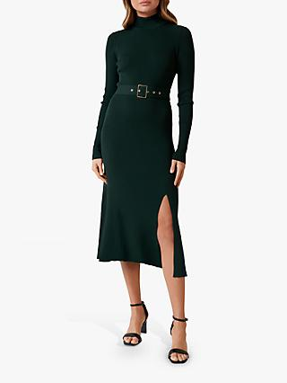 Forever New Maven Belted Midi Dress, Forest