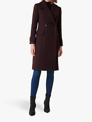 Forever New Sally Wrap Coat, Deep Berry