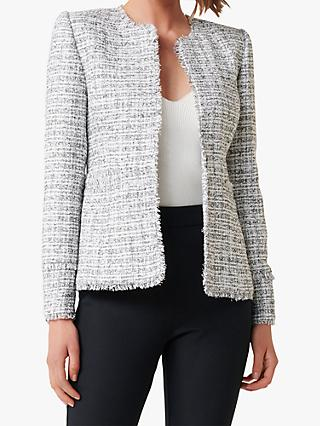 Forever New Sandy Boucle Jacket, Porcelain