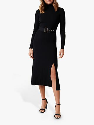 Forever New Maven Knitted Dress, Black