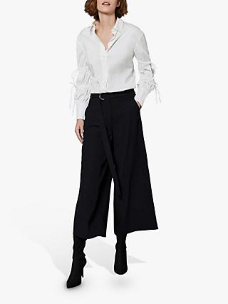 Mint Velvet Twill Culottes, Black