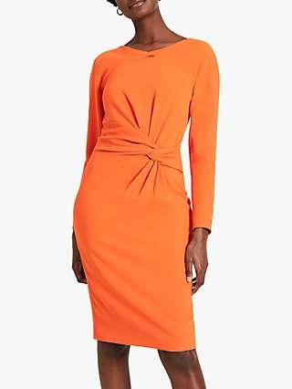 Damsel in a Dress Valo Twist Front Dress, Orange