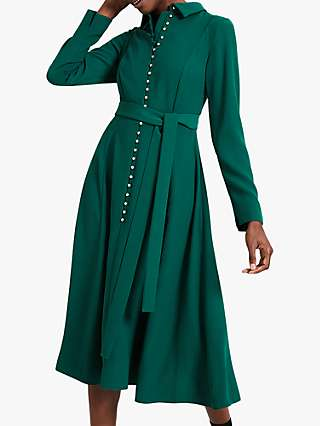 Damsel in a Dress Lanie Military Dress, Green