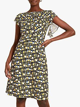 Damsel in a Dress Bari Print Knee Length Dress, Yellow