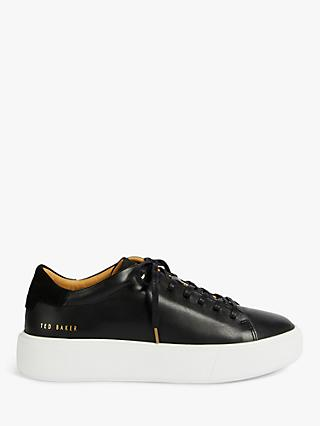 Ted Baker Yinka Leather Platform Trainers, Black