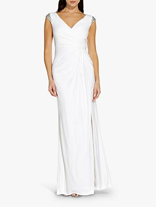 Adrianna Papell Jersey Maxi Gown, Ivory
