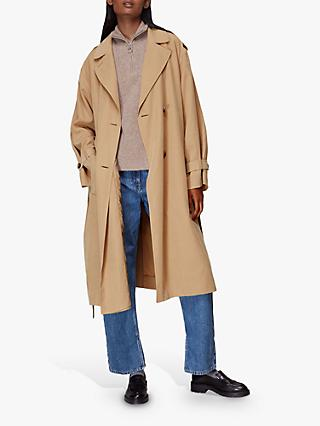 Whistles Riley Trench Coat, Neutral