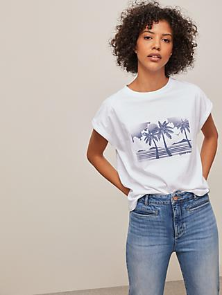 AND/OR Palm Tree Tank Top, White