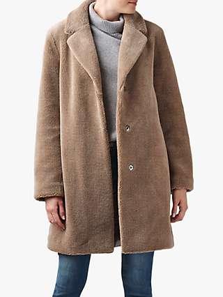 Velvet by Graham & Spencer Trishelle Sherpa Coat, Tan