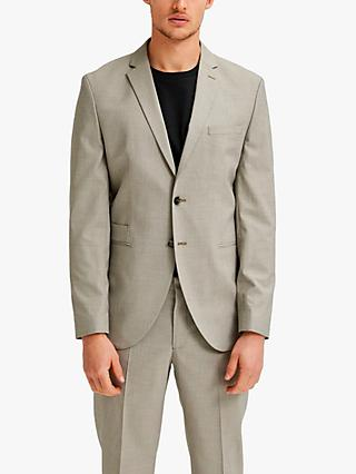 SELECTED HOMME Logan Slim Fit Recycled Polyester Suit Jacket, Sand
