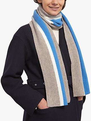 Jigsaw College Striped Wool Scarf, Multi
