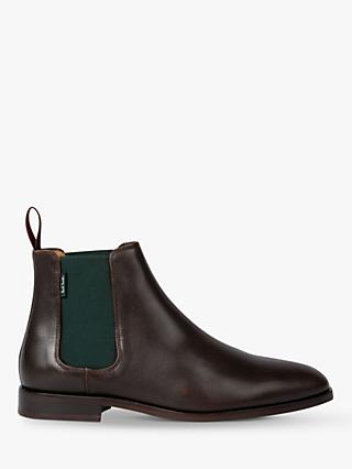 PS Paul Smith Gerald Leather Chelsea Boots, Chocolate