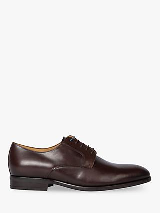 PS Paul Smith Daniel Leather Derby Shoes, Chocolate