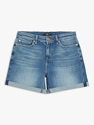 7 For All Mankind Boy Shorts, Mid Blue