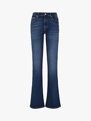 7 For All Mankind Mid Rise Bootcut Heritage Jeans, Soho Dark