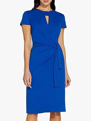 Adrianna Papell Crepe Tie Waist Dress, Cobalt