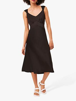 French Connection Ilumina Satin Slip Dress, Black
