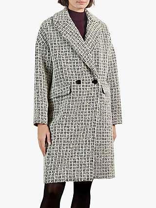 Ted Baker Liepa Cocoon Coat, Black/Multi