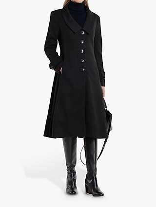 Jolie Moi Retro Flare Coat, Black