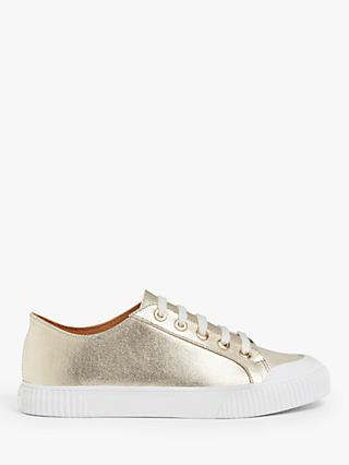 AND/OR Erika Canvas Flatform Trainers, Gold