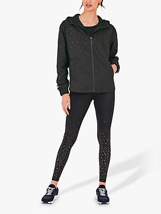 hush Active Star Print Jacket, Black