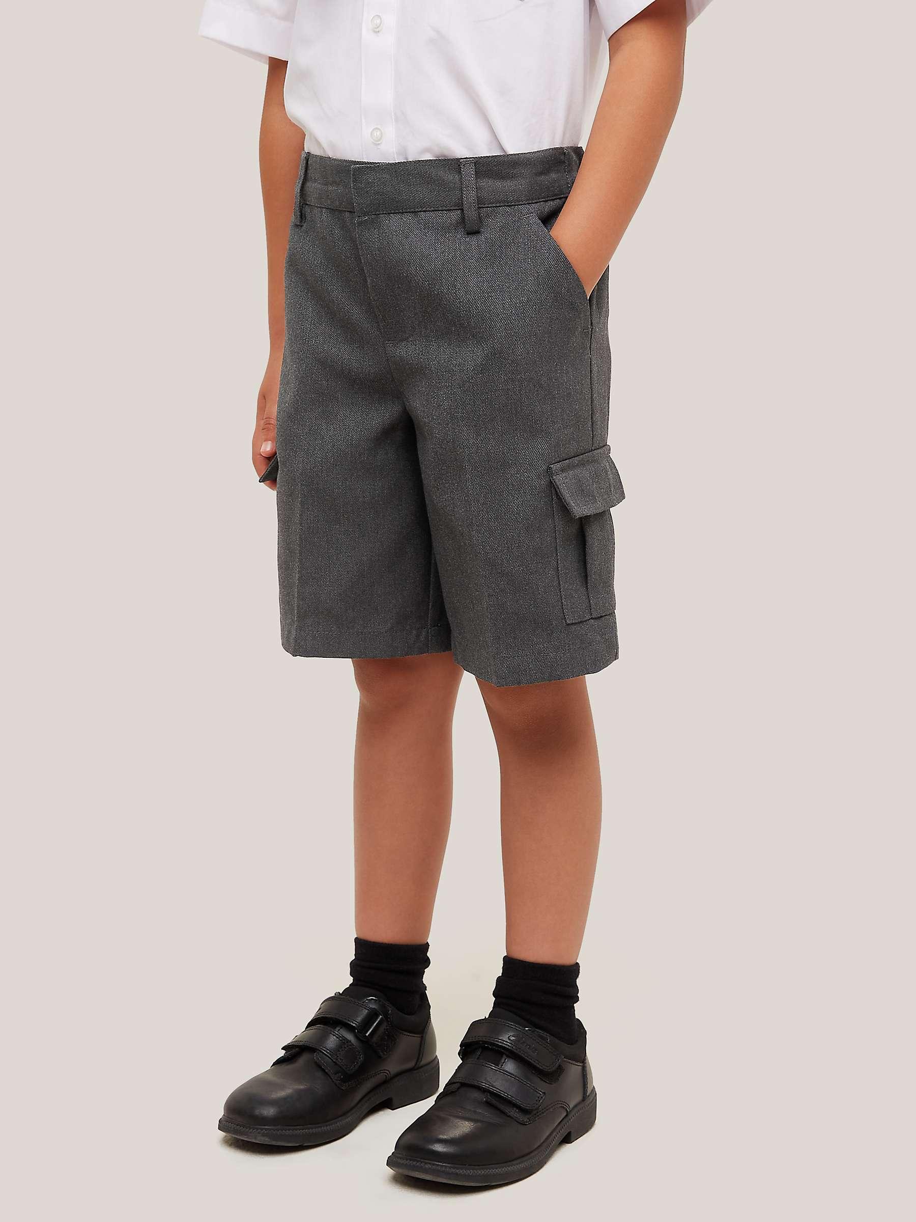 BLACK//GREY//NAVY AGES 2-12YRS SCHOOL BOYS SHORTS TEFLON PROTECTOR