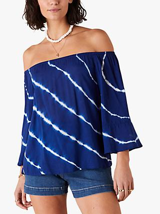 Monsoon Tie Dye Off Top, Blue