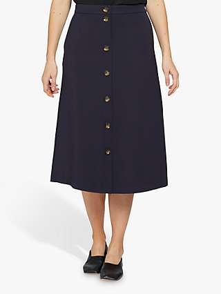 Masai Copenhagen Sandra Ponte Midi Skirt, Navy
