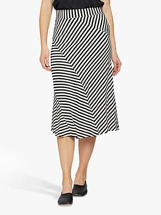 Masai Copenhagen Saris Stripe Midi Skirt, Black/White