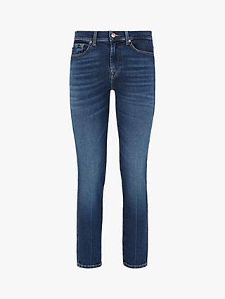 7 For All Mankind Roxanne Luxe Vintage Ankle Grazer Jeans, Dark Blue