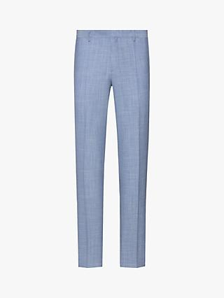 HUGO by Hugo Boss Getlin212X Performance Stretch Slim Fit Suit Trousers, Medium Blue