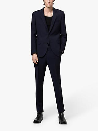 HUGO by Hugo Boss Henry/Getlin212X Super Flex Wool Slim Fit Suit, Dark Blue