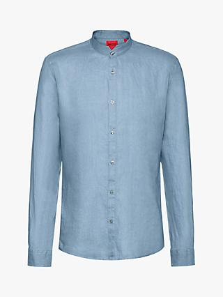 HUGO Elvorini Linen Shirt, Medium Blue