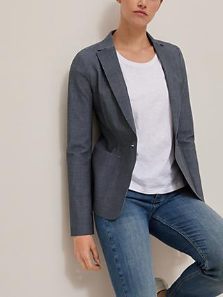 Banana Republic Performance Textured Blazer, Slate Blue