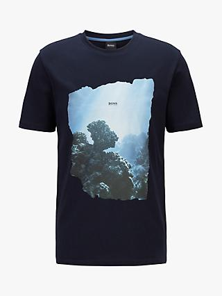 BOSS Fully Recyclable Noah Graphic T-Shirt, Dark Blue