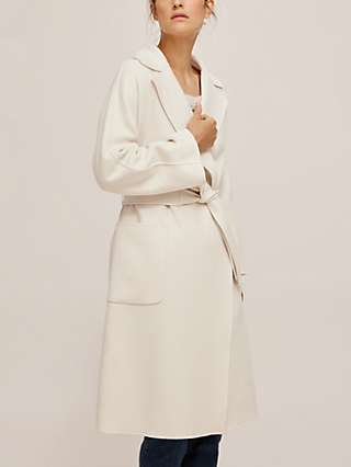 Weekend MaxMara Selz Wool Blend Wrap Coat, White