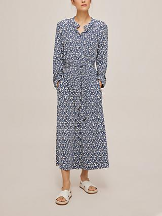 Weekend MaxMara Ampezzo Floral Midi Dress, Blue