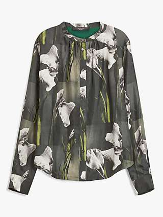 Weekend MaxMara Pincio Silk Floral Blouse, Green
